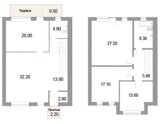 Планировка Четырёхкомнатная квартира площадью 149 кв.м в ЖК «Новые кварталы Петергофа»