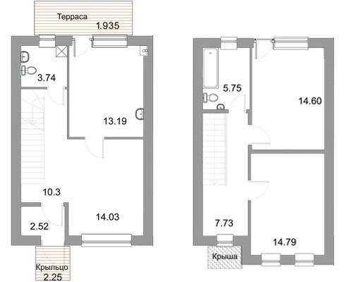 Планировка Трёхкомнатная квартира площадью 88.8 кв.м в ЖК «Новые кварталы Петергофа»