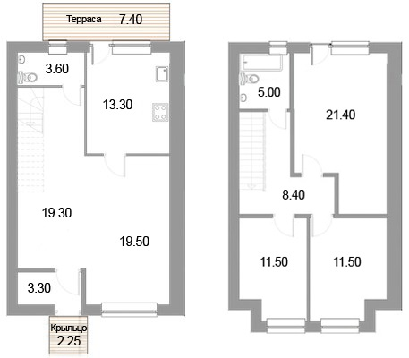 Планировка Четырёхкомнатная квартира площадью 119 кв.м в ЖК «Новые кварталы Петергофа»